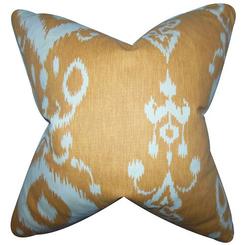 The Pillow Collection Katti Neutral 18 x 18 Patterned Throw Pillow