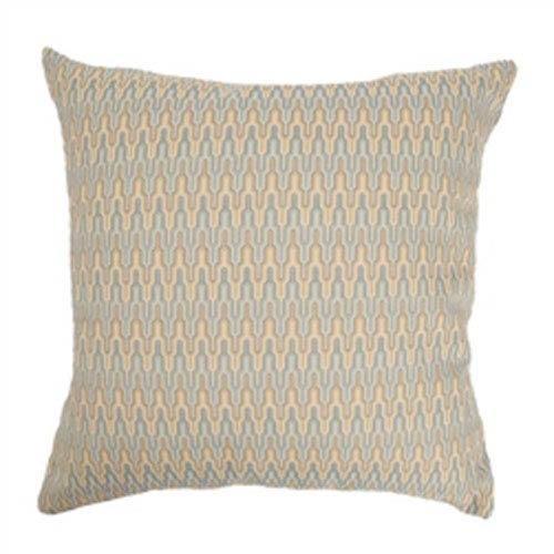 The Pillow Collection Caelic Zigzag Pillow Blue/Yellow