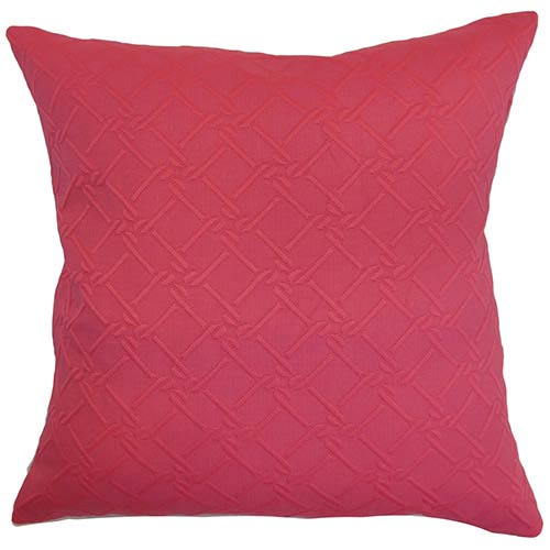The Pillow Collection Rafai Pink 18 x 18 Solid Throw Pillow