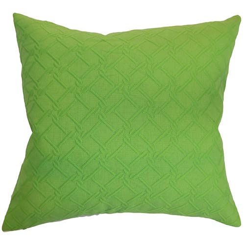 The Pillow Collection Rfai Green 18 x 18 Solid Throw Pillow