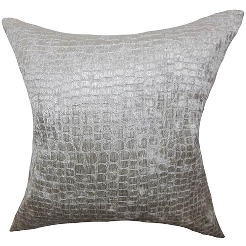 The Pillow Collection Jensine Gray 18 x 18 Solid Throw Pillow