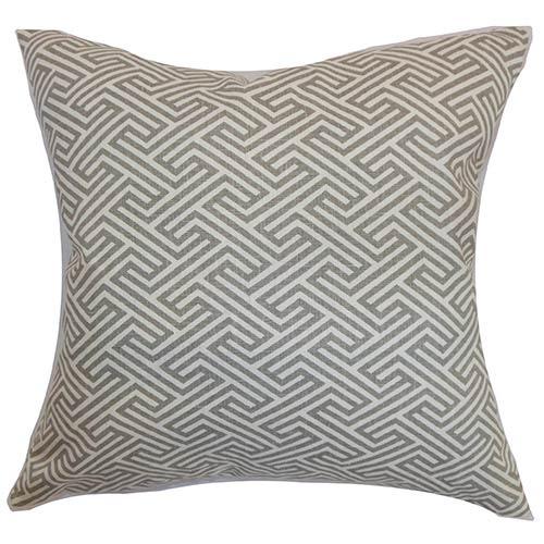 The Pillow Collection Graz Blue 18 x 18 Geometric Throw Pillow