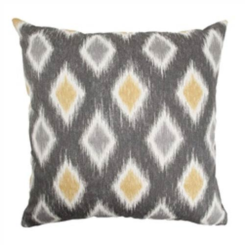 The Pillow Collection Faela Diamond Pillow Graphite