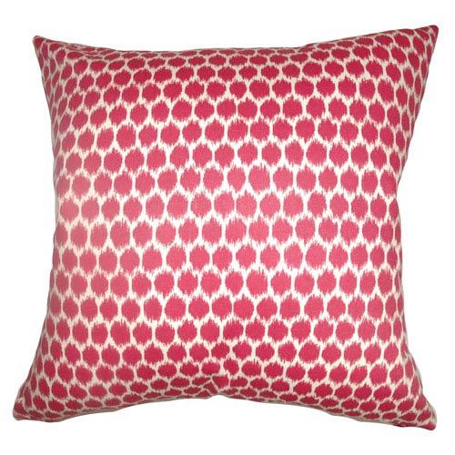 The Pillow Collection Daile Spots Pillow Fuchsia