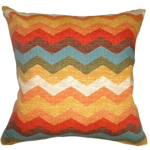 The Pillow Collection Gail Zigzag Pillow Autumn