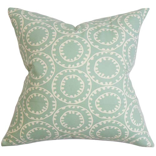 The Pillow Collection Yowanda Blue 18 x 18 Geometric Throw Pillow