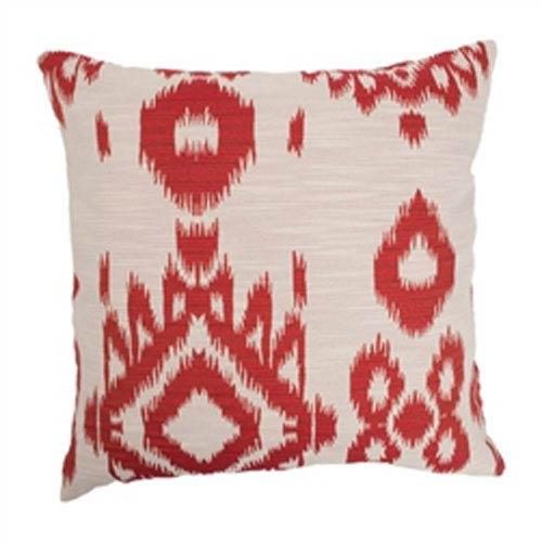 The Pillow Collection Gaera Ikat Pillow Hot Pepper