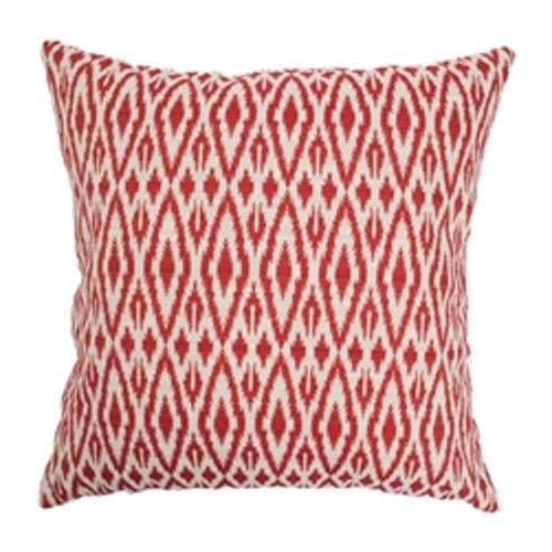 The Pillow Collection Hafoca Ikat Pillow Hot Pepper