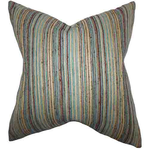 the pillow collection bartram blue and brown 18 x 18 stripes throw pillow 2106p18d71blu_1 - The Pillow Collection