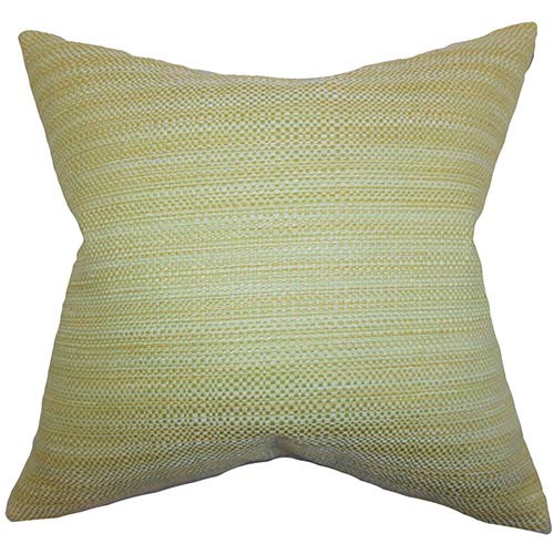 The Pillow Collection Zebulun Green 18 x 18 Patterned Throw Pillow