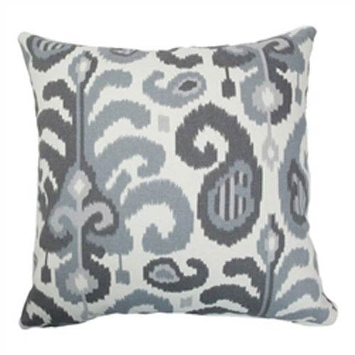 The Pillow Collection Scebbi Ikat Pillow Steel
