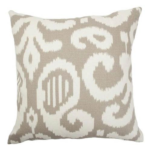 The Pillow Collection Teora Ikat Pillow Fog