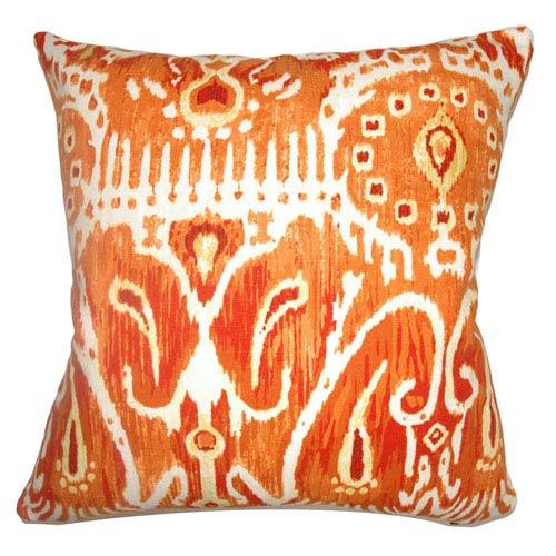 The Pillow Collection Haestingas Ikat Pillow Pumpkin