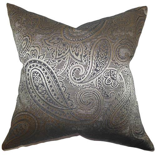 The Pillow Collection Cashel Gray 18 X 18 Paisley Throw Pillow