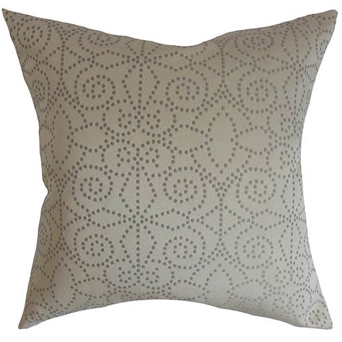 The Pillow Collection Arum Blue 18 x 18 Geometric Throw Pillow