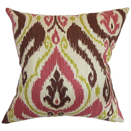 The Pillow Collection Obo Multicolor 18 x 18 Patterned Throw Pillow