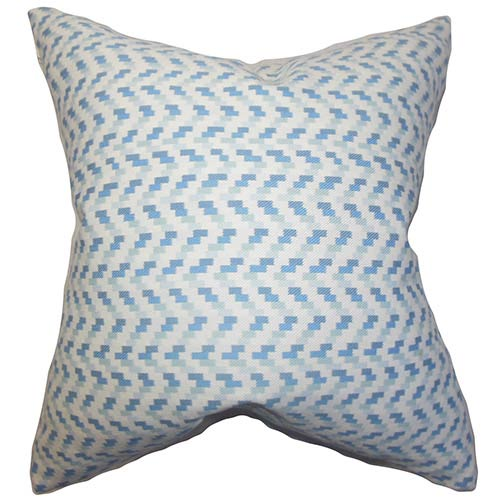The Pillow Collection Varsha Blue 18 x 18 Geometric Throw Pillow