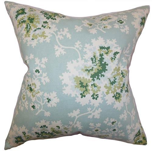 Danique Green 18 x 18 Floral Throw Pillow