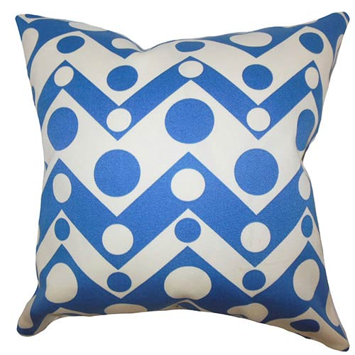 The Pillow Collection Quenby Blue 18 x 18 Geometric Throw Pillow