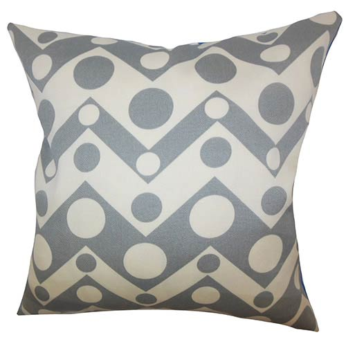 The Pillow Collection Quenby Gray 18 x 18 Geometric Throw Pillow