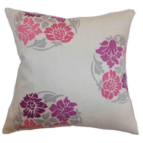 The Pillow Collection Ihosy Floral Pillow Sangria