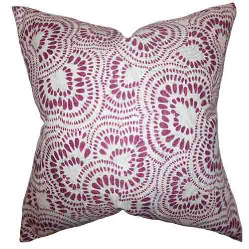 The Pillow Collection Glynis Purple 18 x 18 Floral Throw Pillow