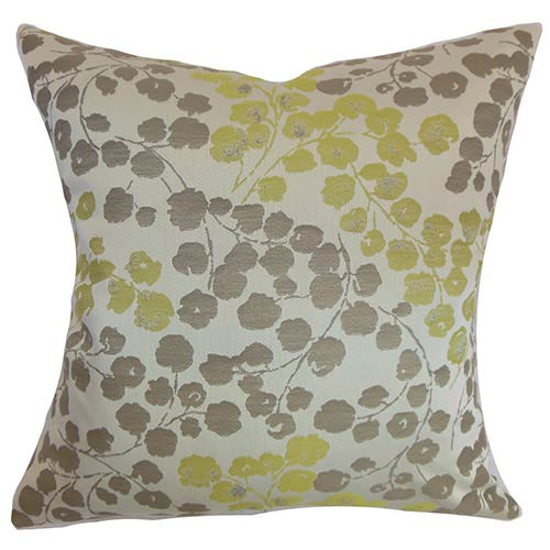 The Pillow Collection Reynosa Purple 18 x 18 Floral Throw Pillow