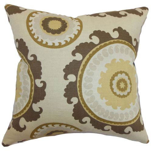 The Pillow Collection Obyan Geometric Pillow Natural