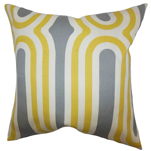 Persis Yellow 18 x 18 Geometric Throw Pillow