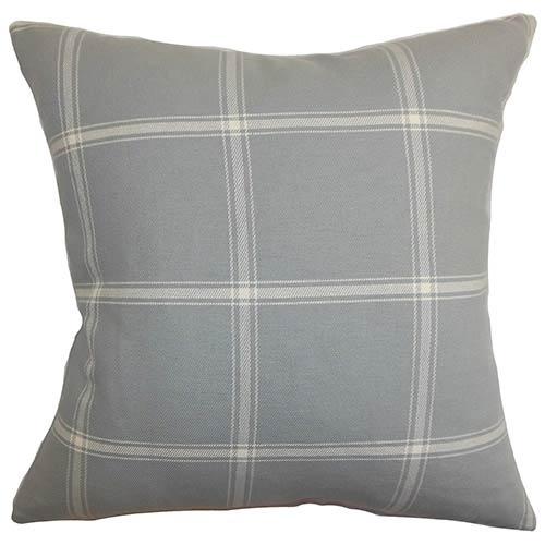 The Pillow Collection Naretha Gray 18 x 18 Plaid Throw Pillow