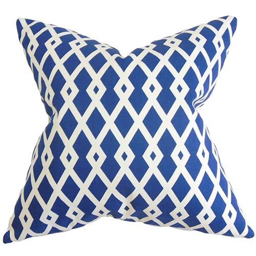 The Pillow Collection Tova Blue 18 x 18 Geometric Throw Pillow