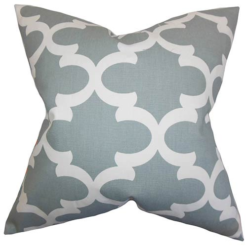 The Pillow Collection Titian Gray 18 x 18 Geometric Throw Pillow