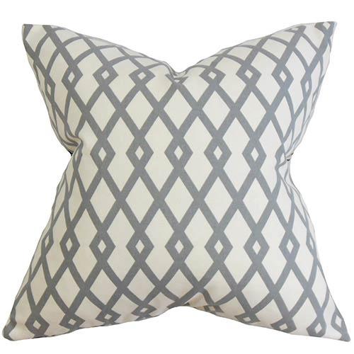 The Pillow Collection Tova Gray 18 x 18 Geometric Throw Pillow