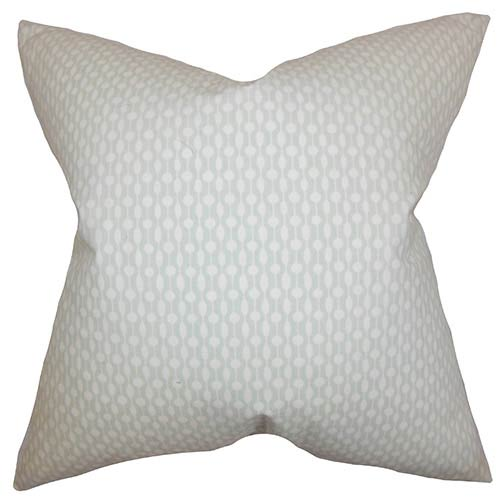 The Pillow Collection Orit Gray 18 x 18 Geometric Throw Pillow