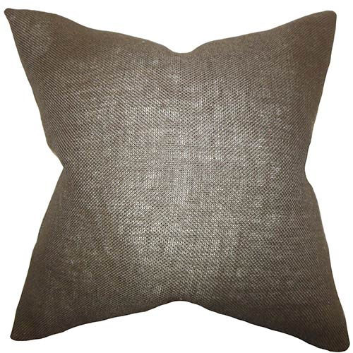 The Pillow Collection Ellery Brown 18 x 18 Solid Throw Pillow