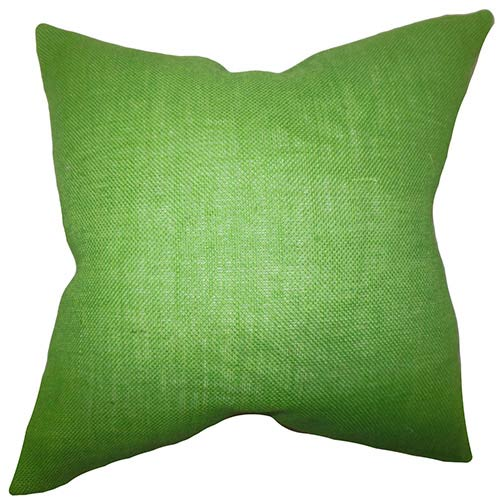 The Pillow Collection Ellery Apple Green 18 x 18 Solid Throw Pillow