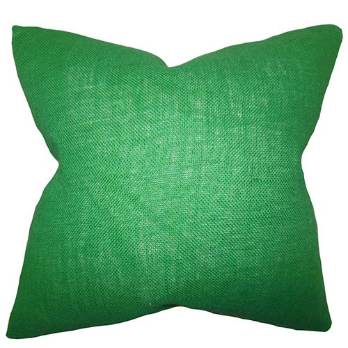 The Pillow Collection Ellery Green 18 x 18 Solid Throw Pillow