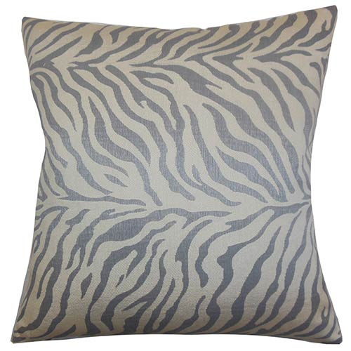 Helaine Gray 18 x 18 Zebra Print Throw Pillow