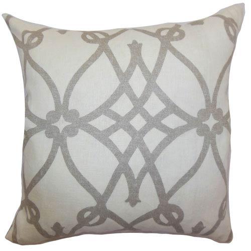 The Pillow Collection Quenild Moorish Pillow Charcoal