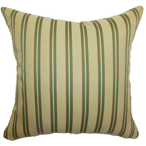 The Pillow Collection Harriet Stripes Pillow Gold