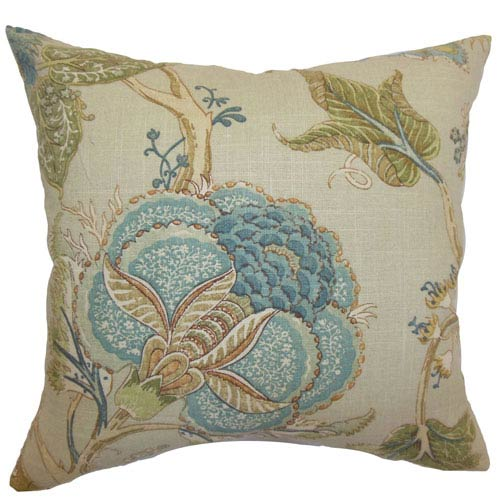 The Pillow Collection Ymanya Floral Pillow Seacoast