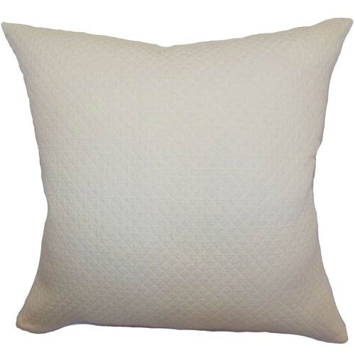 The Pillow Collection Capri Herringbone Pillow Creme