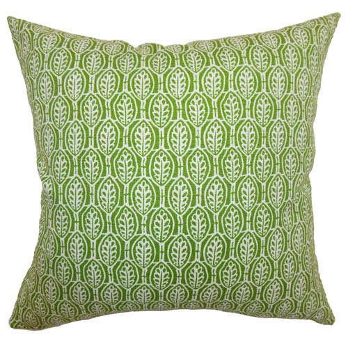 The Pillow Collection Dale Floral Pillow Green