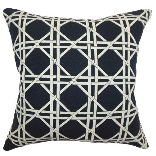 The Pillow Collection Edekin Diamond Pillow Black Creme