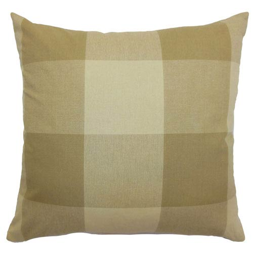 The Pillow Collection Kalen Plaid Pillow Oatmeal
