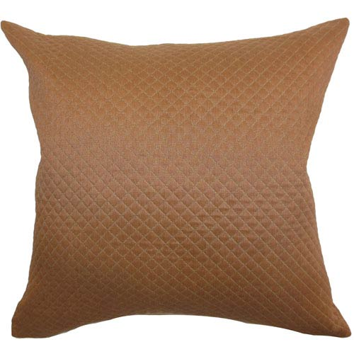 Ochs Quilted Pillow Brown