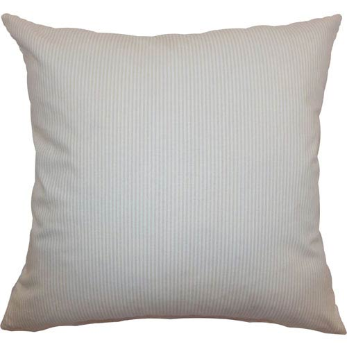 The Pillow Collection Quenilda Ticking Pillow Tan