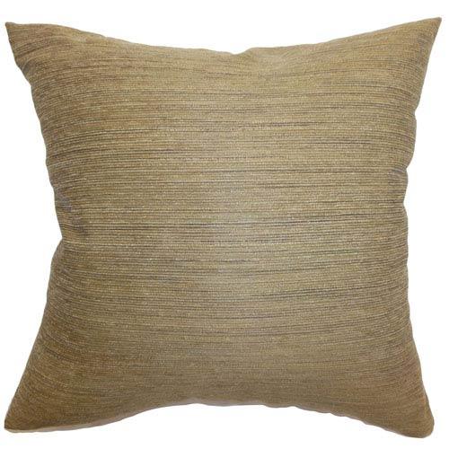 The Pillow Collection Xavia Weave Pillow Almond