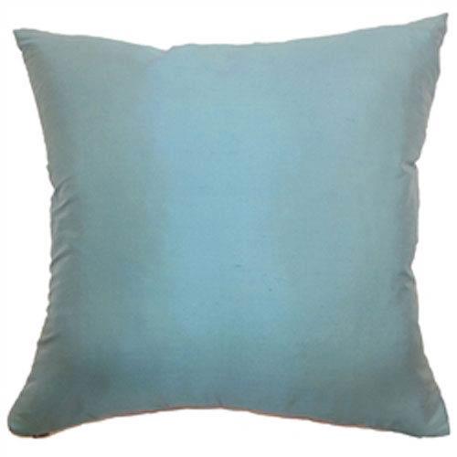 The Pillow Collection Agnieska Plain Pillow Turquoise