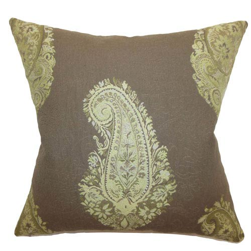The Pillow Collection Marina Paisley Pillow Chocolate